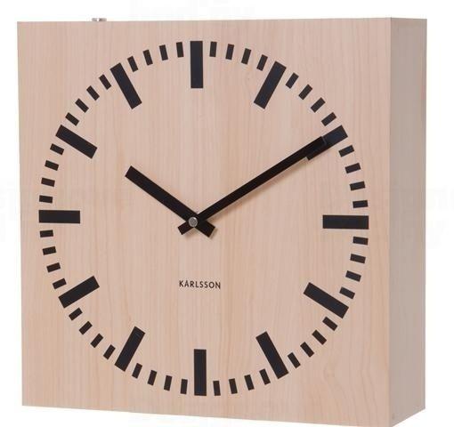 Oboustranné hodiny dřevěné Karlsson 5528