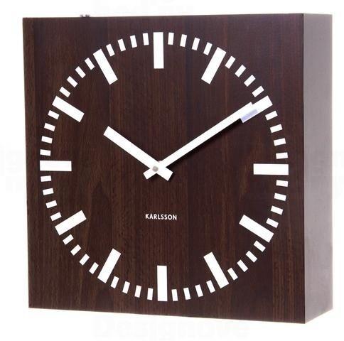 Dřevěné oboustranné hodiny Karlsson 5529