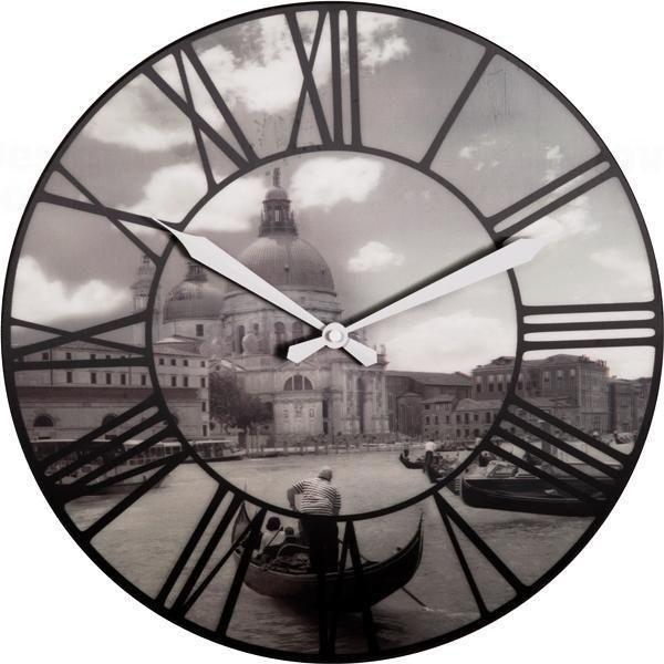 NeXtime Velké plastové nástěnné hodiny Nextime 3106 Venice