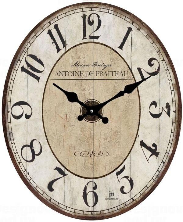 Lowell Italy Dřevěné hodiny retro Lowell 14860