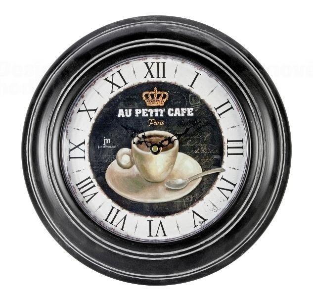 Lowell Italy Retro kuchyňské hodiny nástěnné Lowell 21445 - kovové