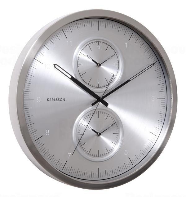 Karlsson Designové nástěnné hodiny KA5508SI Karlssson 50cm