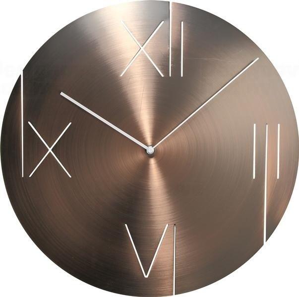 NeXtime Leštěné kovové designové hodiny na zeď Nextime 3104co