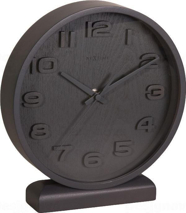 NeXtime Designové stolní hodiny 5192gs Nextime Wood Wood Small 22cm