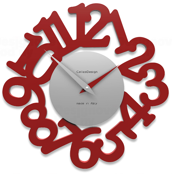 Designové hodiny 10-009 CalleaDesign Mat 33cm (více barevných verzí) Barva růžový oblak (tmavší) - 33