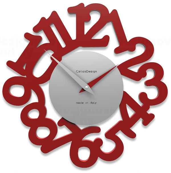 Designové hodiny 10-009 CalleaDesign Mat 33cm (více barevných verzí) Barva broskvová světlá - 22