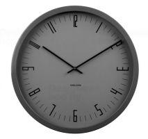 Nástěnné hodiny Designové nástěnné hodiny KA5612BK Karlsson 44cm Nástěnné hodiny