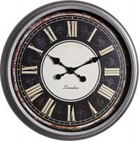 Retro nástěnné hodiny s římskými číslicemi..01508