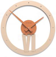 Designové hodiny 10-015 CalleaDesign Xavier 35cm (více barevných verzí) Barva broskvová světlá-22