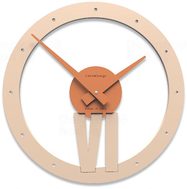 Designové hodiny 10-015 CalleaDesign Xavier 35cm (více barevných verzí) Barva šedomodrá světlá - 41