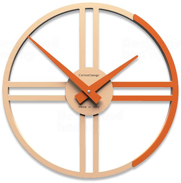 Designové hodiny 10-016 CalleaDesign Gaston 35cm (více barevných verzí) Barva broskvová světlá - 22