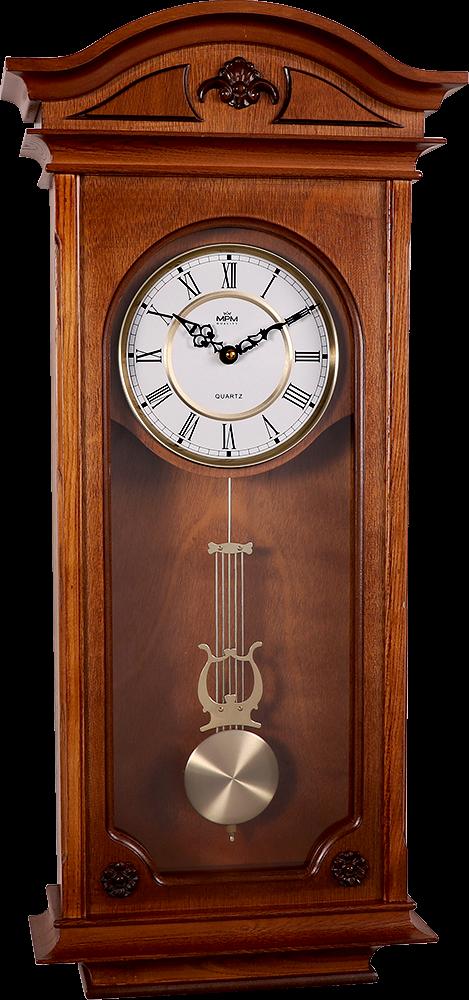 Dřevěné nástěnné hodiny s kyvadlem..01530 54.I - tmavé dřevo 48c59ea235