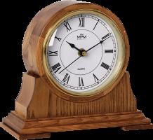 Dřevěné stolní hodiny s římskými číslicemi..0866