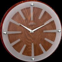 Nástěnné hodiny PRIM Wood Singular mají nápaditý design. Stanou se nepřehlédnutelným doplňkem interiéru.Hodiny jsou čistě a precizně zpracovány ze dřeva a skla. Na skle hodin jso