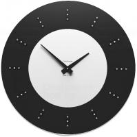 Designové hodiny 10-210 CalleaDesign Vivyan Swarovski 60cm (více barevných verzí) Barva švestkově šedá-34