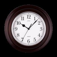 Nástěnné hodiny kulaté JVD  NS27043/23 tmavý dub