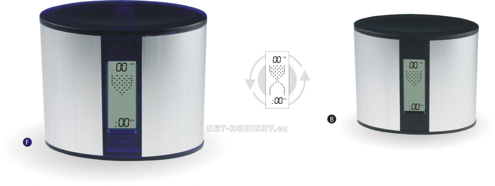 Minutky Budíky C02.2575.065, minutky do kuchyně, laboratoře, kanceláře 3070 - modrá/stříbrná
