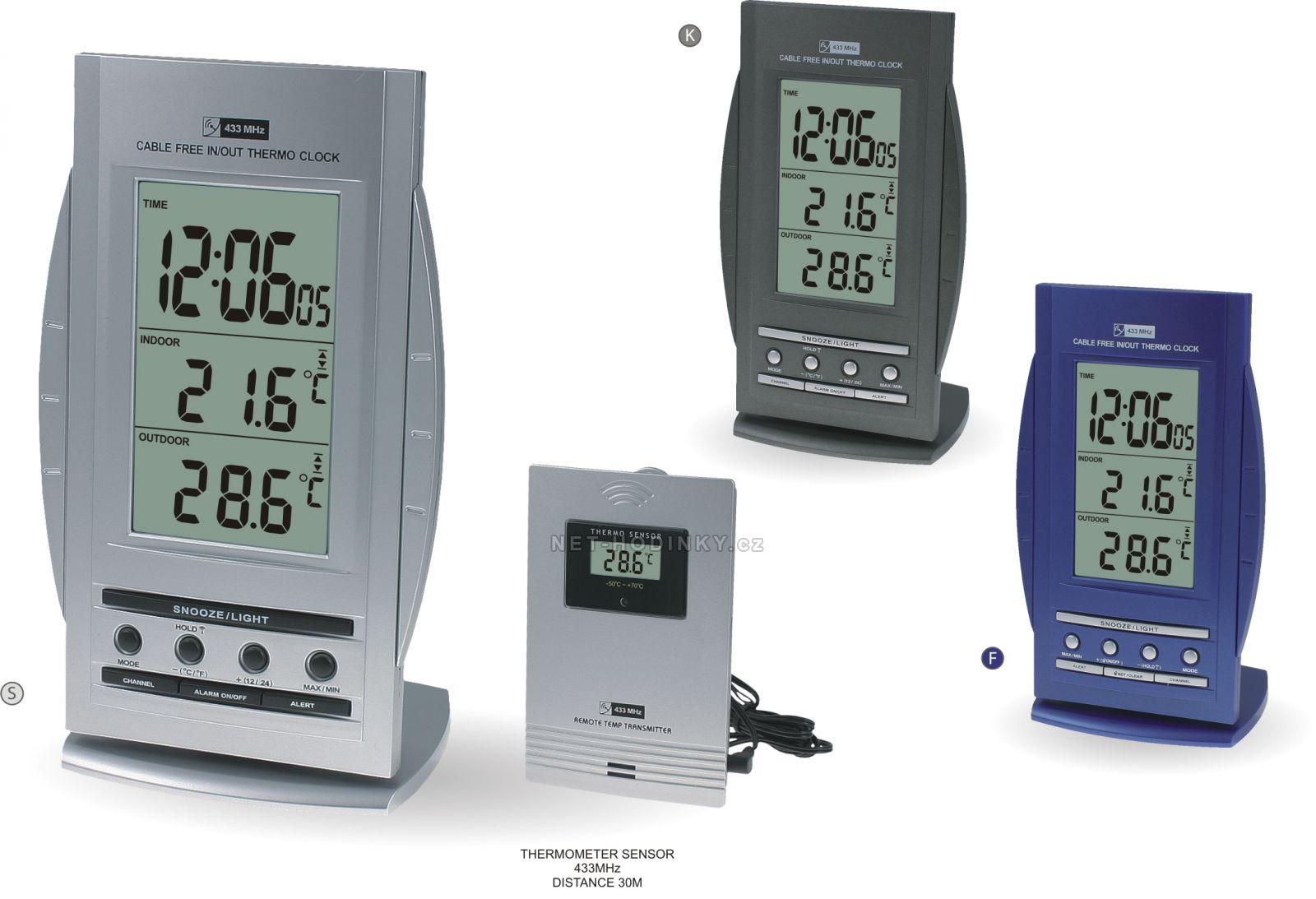 Rádiem řízená meteorologická stanice v různých barevných provedení C02.2758