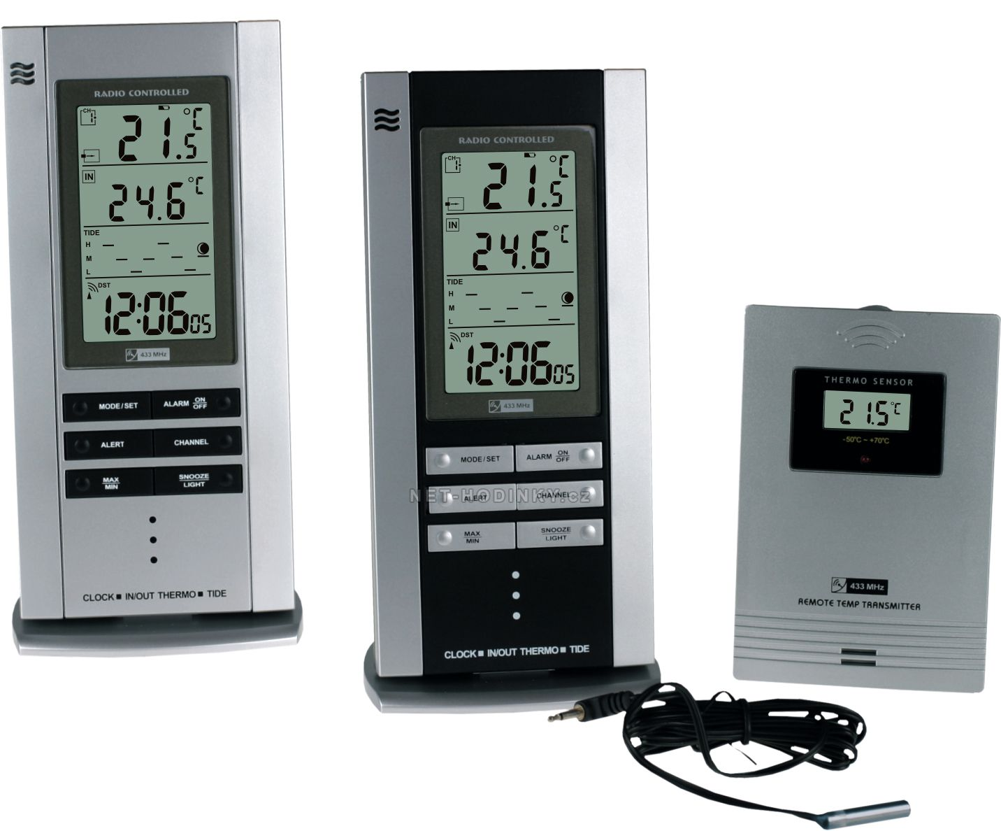 Rádiem řízená meteorologická stanice s teplotním senzorem C02.2759