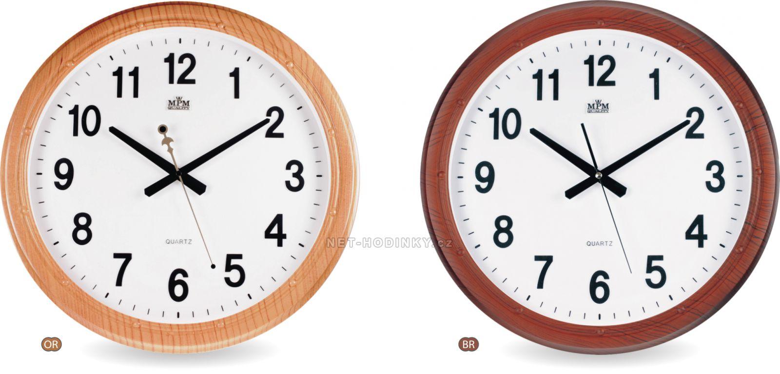 Nástěnné hodiny na stěnu s výraznými číslicemi, nástěnné hodiny na zeď sweep kulaté