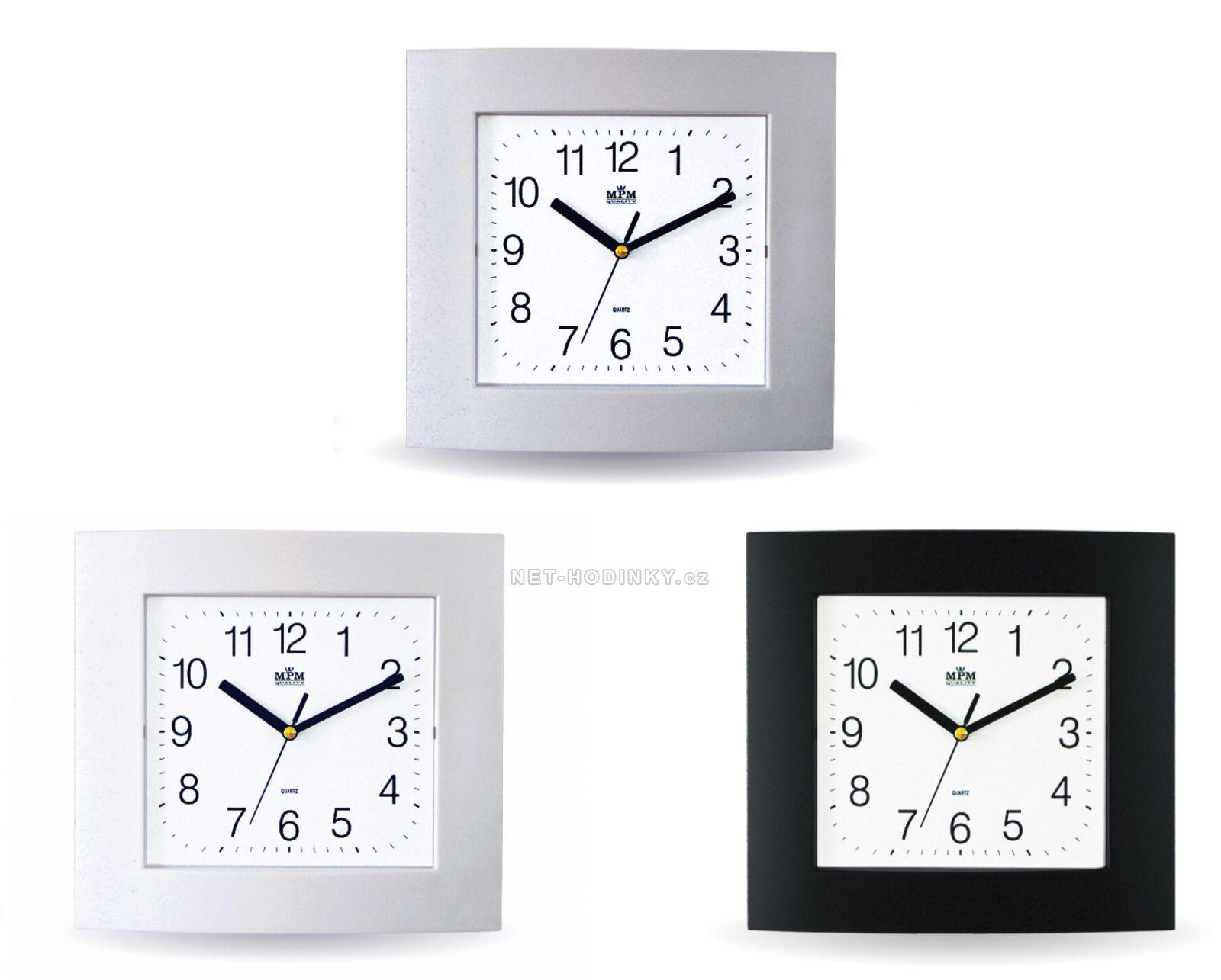 Čtvercové nástěnné hodiny v jednoduchém designu E01.2461