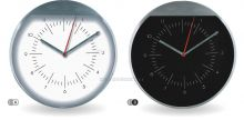 Moderní kovové nástěnné hodiny s decentním ciferníkem E01.2481