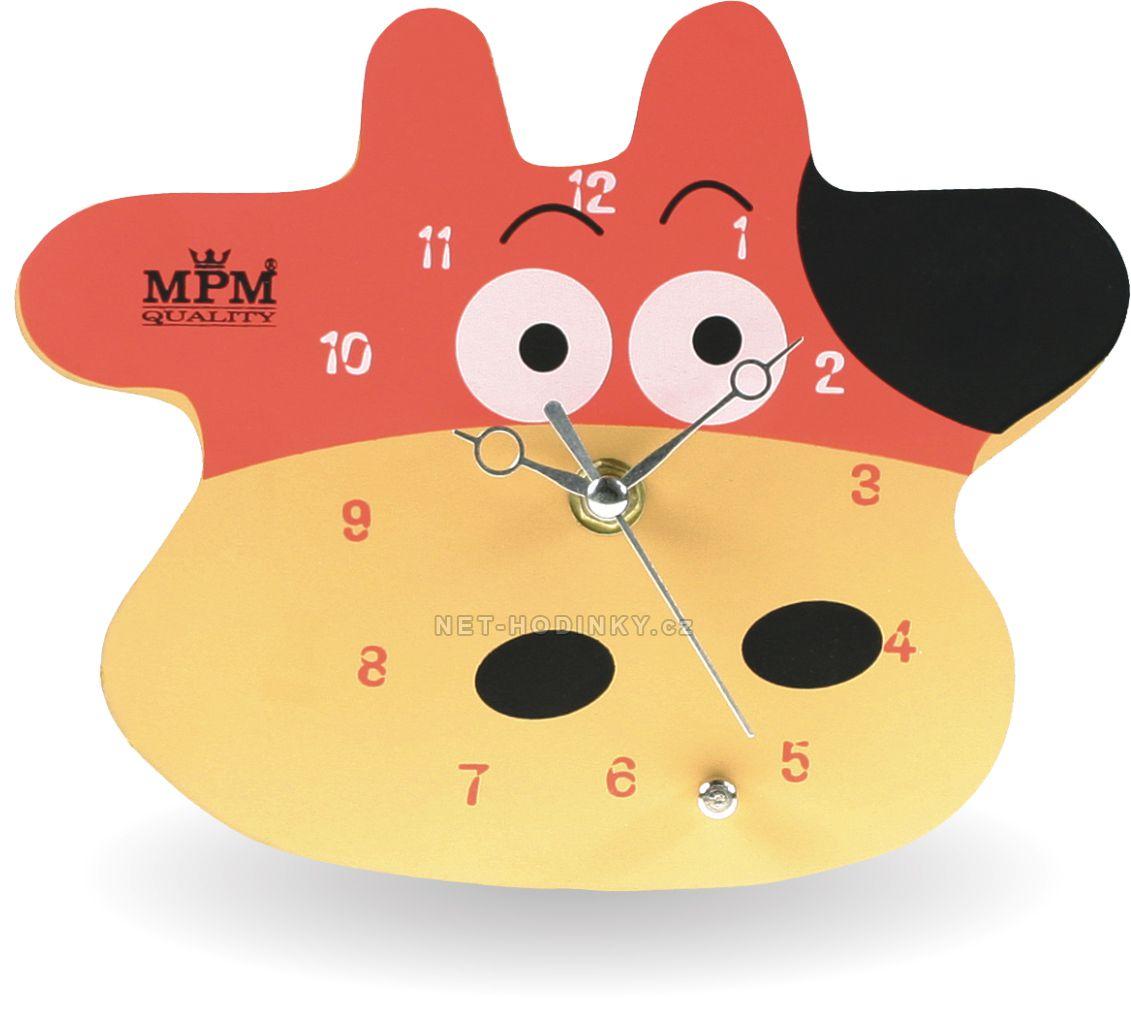 Nástěnné hodiny na stěnu, nástěnné hodiny na zeď s motivem Kravičky