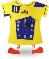 Legrační dřevěné hodiny pro děti ve tvaru trička s nožičkama E01.2519 | E01.2519