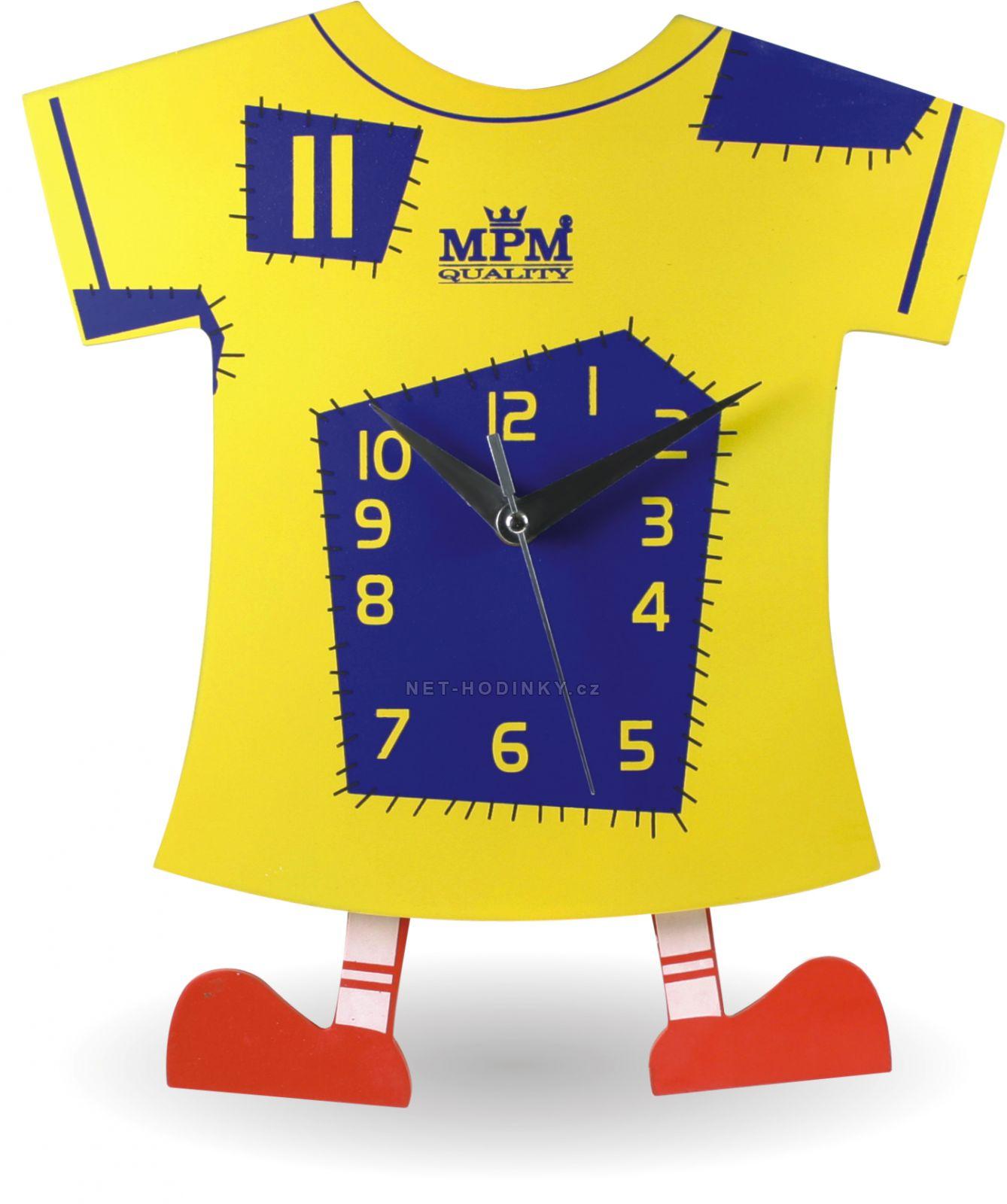 Nástěnné dětské Hodiny E01.2519.0102 1030 - žlutá/modrá