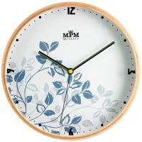 Decentní dřevěné hodiny s jemným květinovým vzorem E01.2532