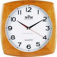nástěnné hodiny na zeď čtvercové dřevěné hodiny tmavá hnědá