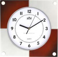 Nástěnné plastové hodiny s čtvercovým designem E01.2805