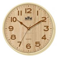 Světlé nástěnné hodiny s různými typy ciferníku E01.2976