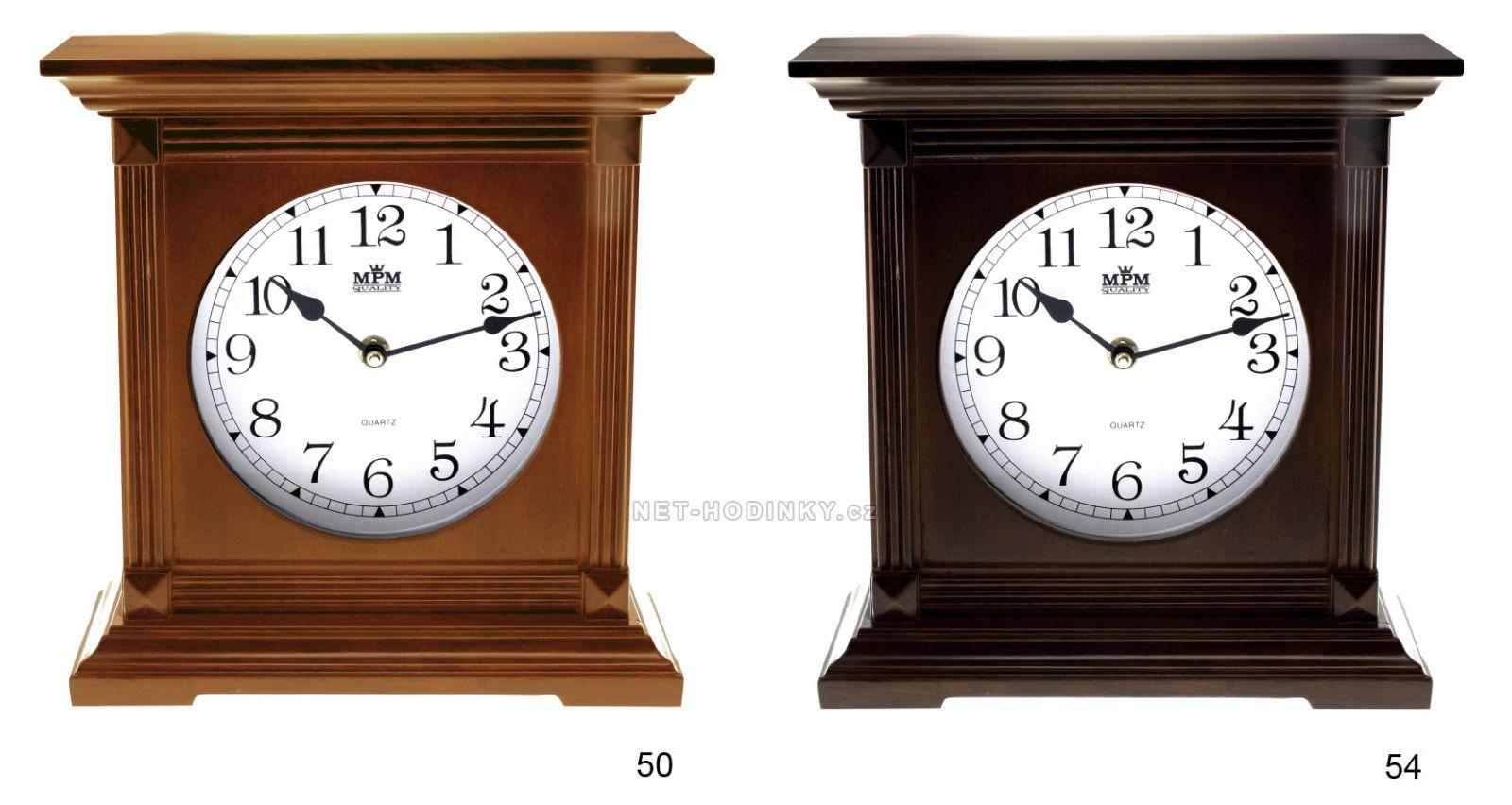 Stolní Hodiny E03.2705.0174 54 - tmavé dřevo