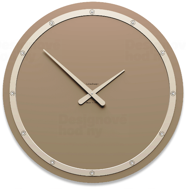 Designové hodiny 10-211 CalleaDesign Tiffany Swarovski 60cm (více barevných verzí) Barva béžová-12 - RAL7044