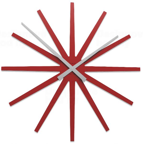 Designové hodiny 10-327 CalleaDesign Frizz 81cm (více barevných verzí) Barva broskvová světlá-22