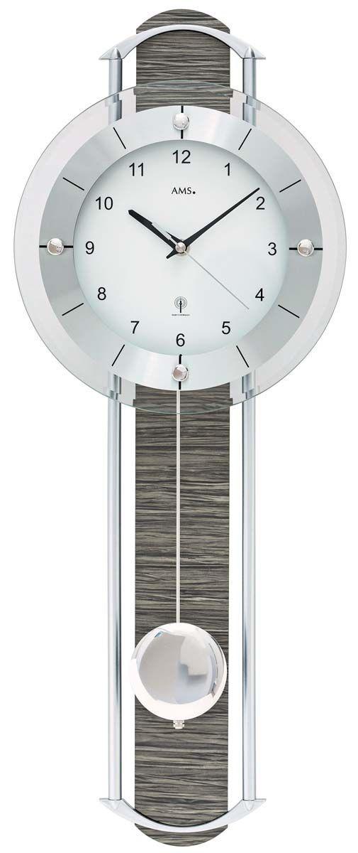 kyvadlové nástěnné hodiny rádiem řízené pendlovky ams 5304