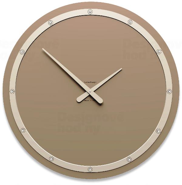 Designové hodiny 10-211 CalleaDesign Tiffany Swarovski 60cm (více barevných verzí) Barva švestkově šedá-34