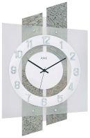 Nástěnné hodiny ams 5536 řízené rádiovým signálem vzor kamene