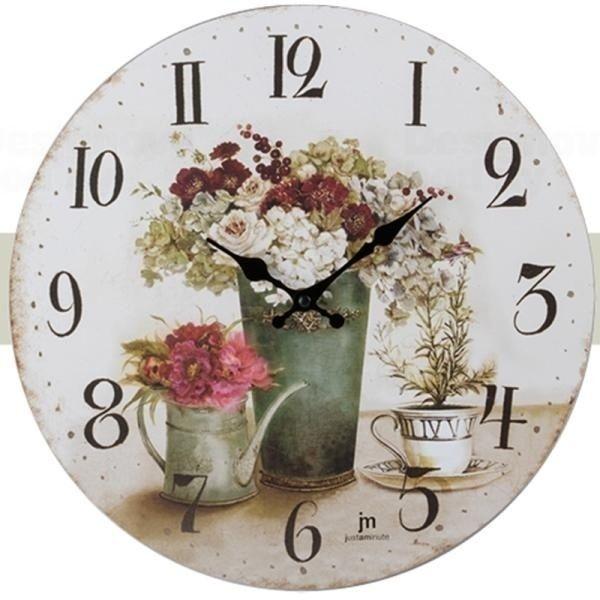 Nástěnné hodiny vintage Lowell 21454 dřevěné Lowell Italy