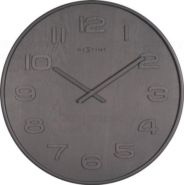 NeXtime Designové nástěnné hodiny 3096gs Nextime Wood Wood Medium 35cm