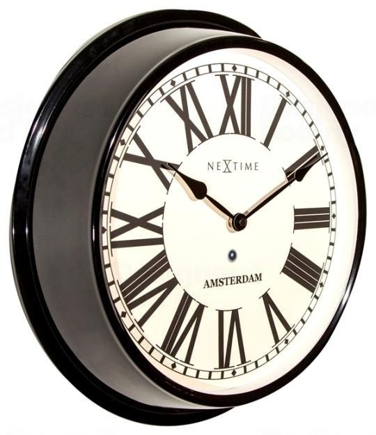 NeXtime Nástěnné hodiny retro kovové Nextime 3129zw