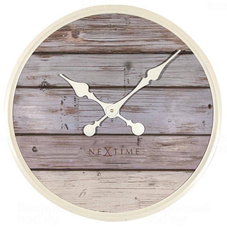 NeXtime Velké dřevěné hodiny stylové Nextime Plank 3134gs