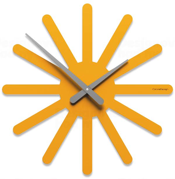 Designové hodiny 10-116 CalleaDesign Asterix 45cm (více barevných verzí) Barva broskvová světlá - 22