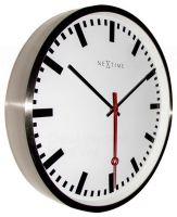 Designové nástěnné hodiny 3127st Nextime Super Station Stripe 55cm