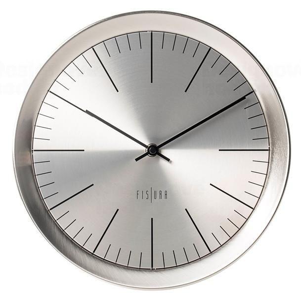 Nástěnné hodiny celokovové Fisura CL0060