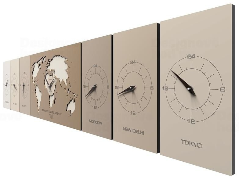 Designové hodiny 12-001 CalleaDesign Cosmo 186cm (více barevných verzí) Barva antracitová černá - 4