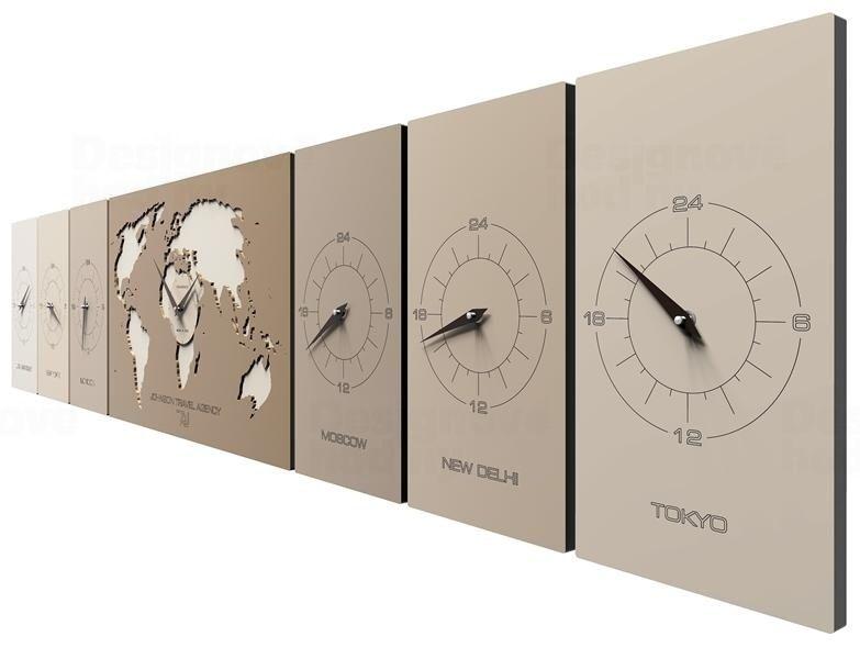Designové hodiny 12-001 CalleaDesign Cosmo 186cm (více barevných verzí) Barva béžová (tmavší) - 13
