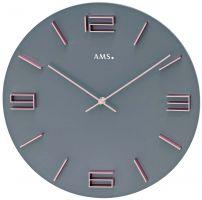Nástěnné hodiny design kulaté ams 9590