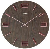 Nástěnné hodiny design kulaté ams 9591